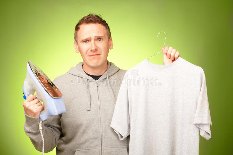 Download Man Unhappy With Iron Royalty Free Stock Images - Image: 24516569