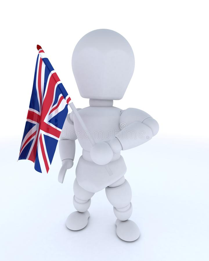 Download Man With Union Jack Flag Stock Photos - Image: 24943173