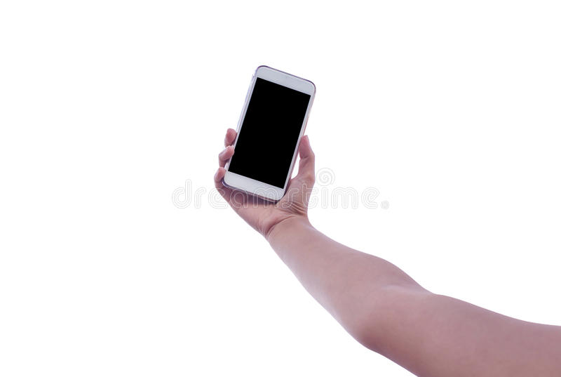 Man uses his Mobile Phone royalty free stock photos