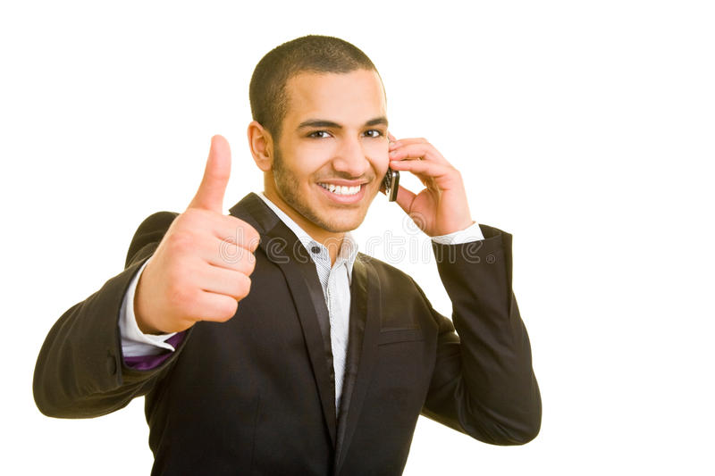 Download Man using cell phone stock photo. Image of business, laughing - 9373482