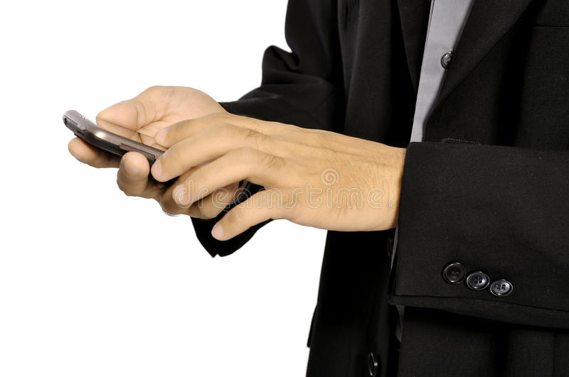 Download Man Using Cellphone stock photo. Image of holding, press - 26718668
