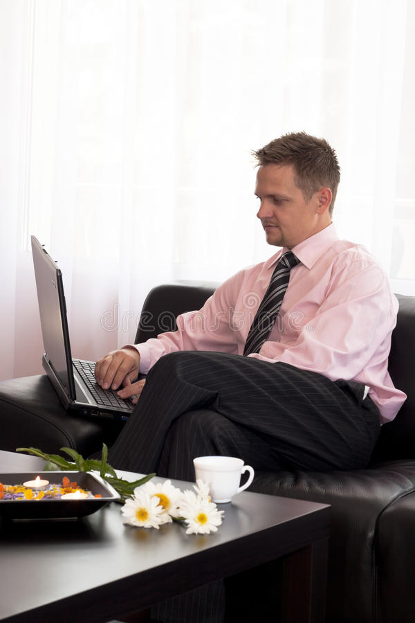Download Man Using Laptop Royalty Free Stock Photography - Image: 15036067
