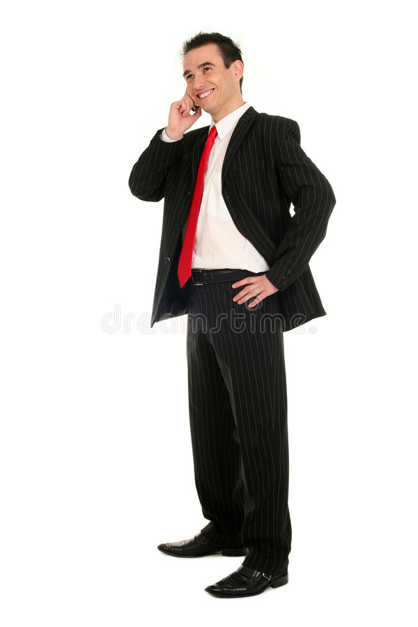 Man using a mobile phone stock image