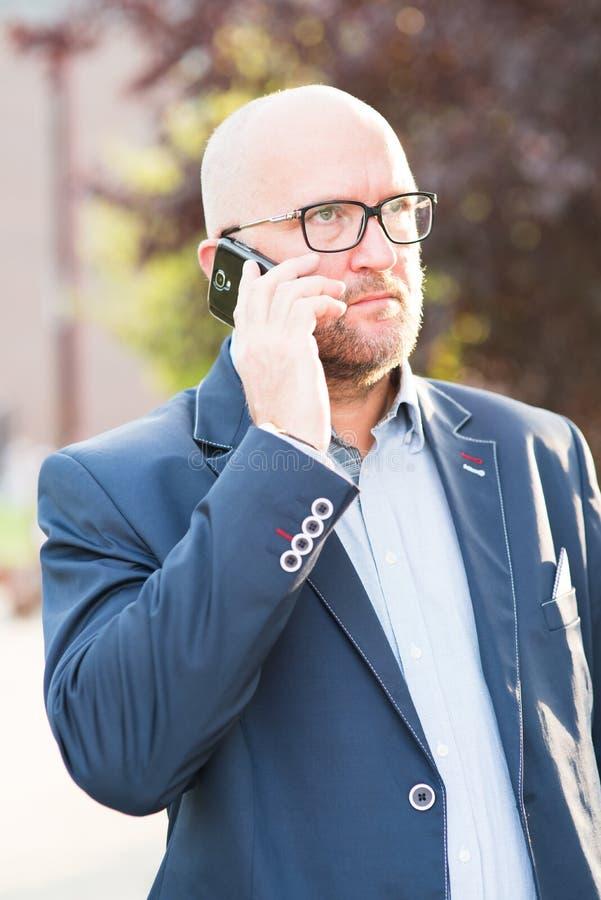 Man using mobile phone. royalty free stock photo