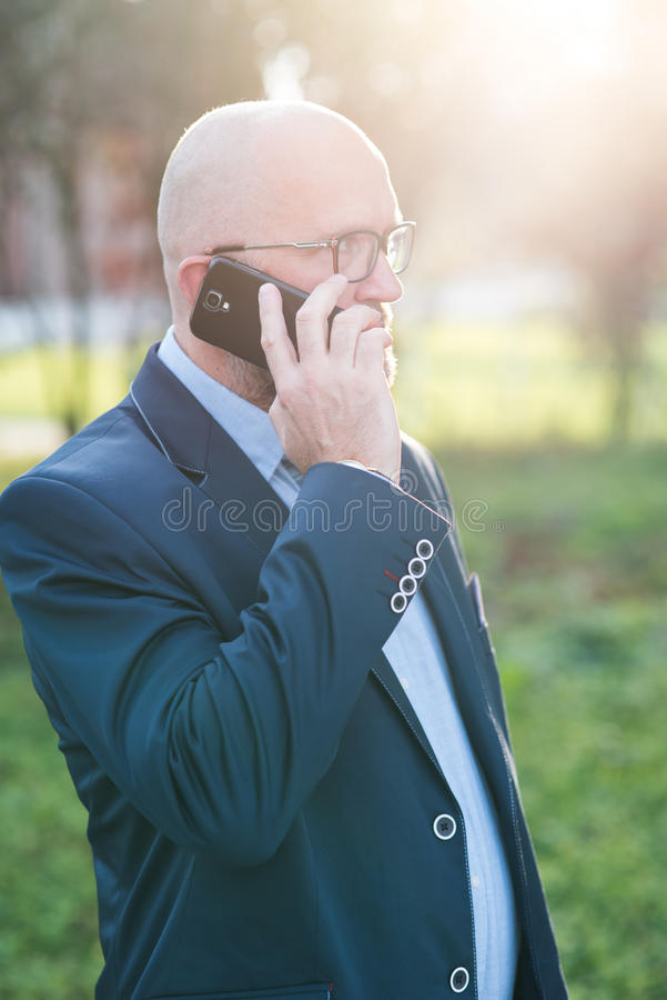 Man using mobile phone. royalty free stock images