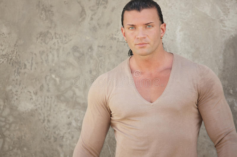 Download Man in a v-neck shirt stock photo. Image of hair, photography - 21395202