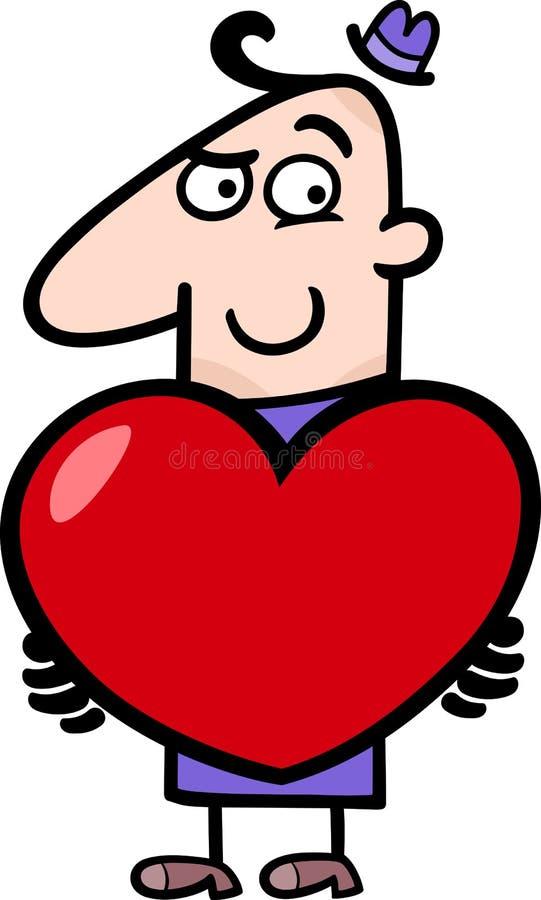 Download Man With Valentine Cartoon Illustration Stock Vector - Image: 28698423
