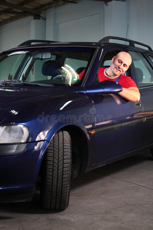 A Man In Vehicle Royalty Free Stock Image