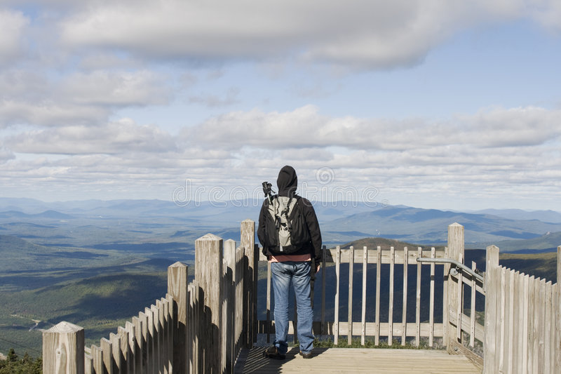 Download Man On Viewpoint Admiring Landscape Stock Image - Image of trail, hiker: 7472911