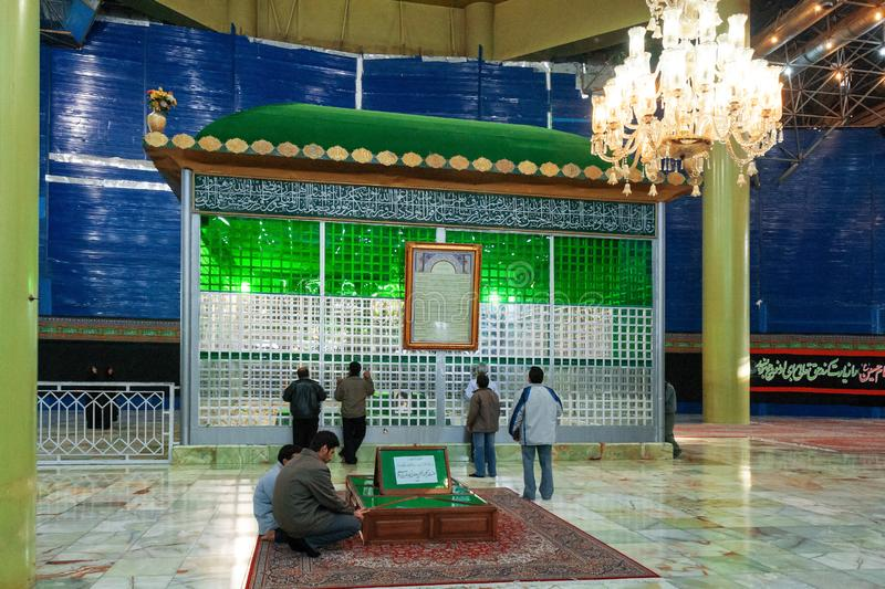 Man visit the tomb of ayatollah Khomeini, Iran, Persia stock image