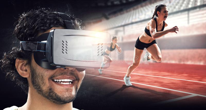 Virtual reality experience. Technologies of the future. royalty free stock photography