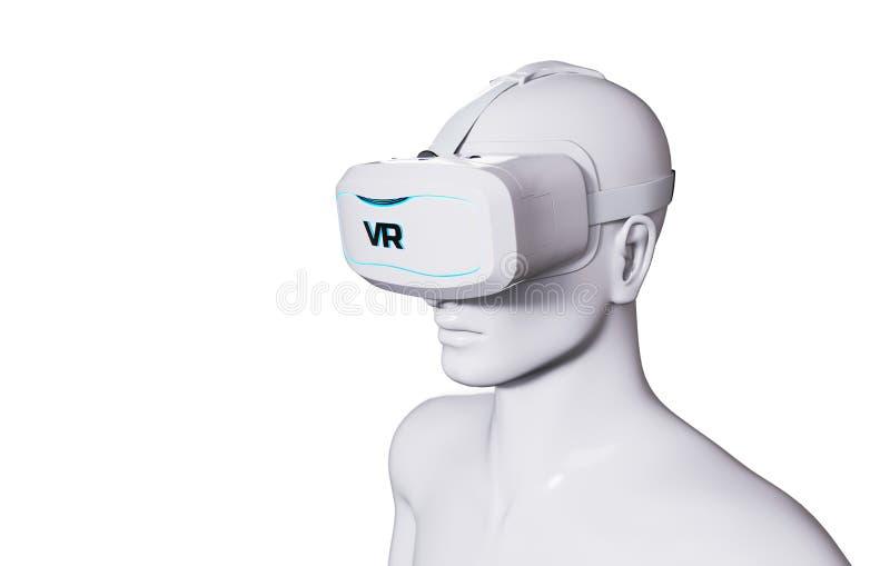 Man in VR Goggles vector illustration