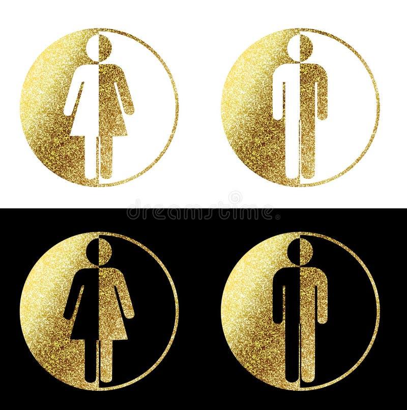 Man vrouwensymbolen stock illustratie