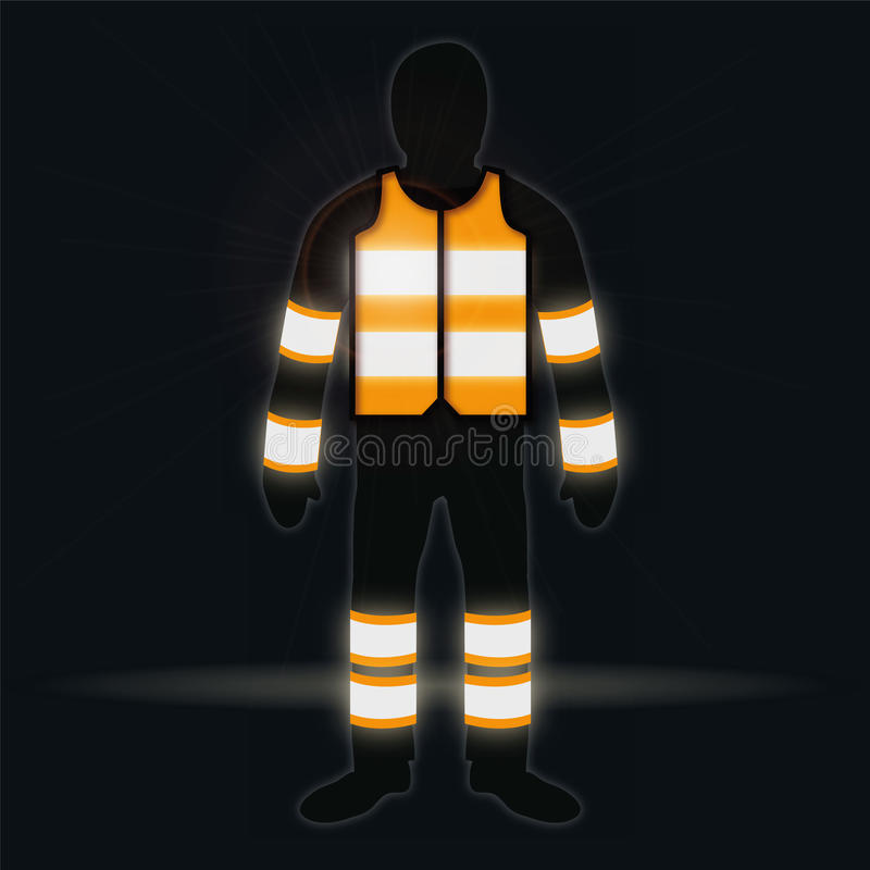 Download Man With Waistcoat In The Dark Stock Vector - Image: 36848688