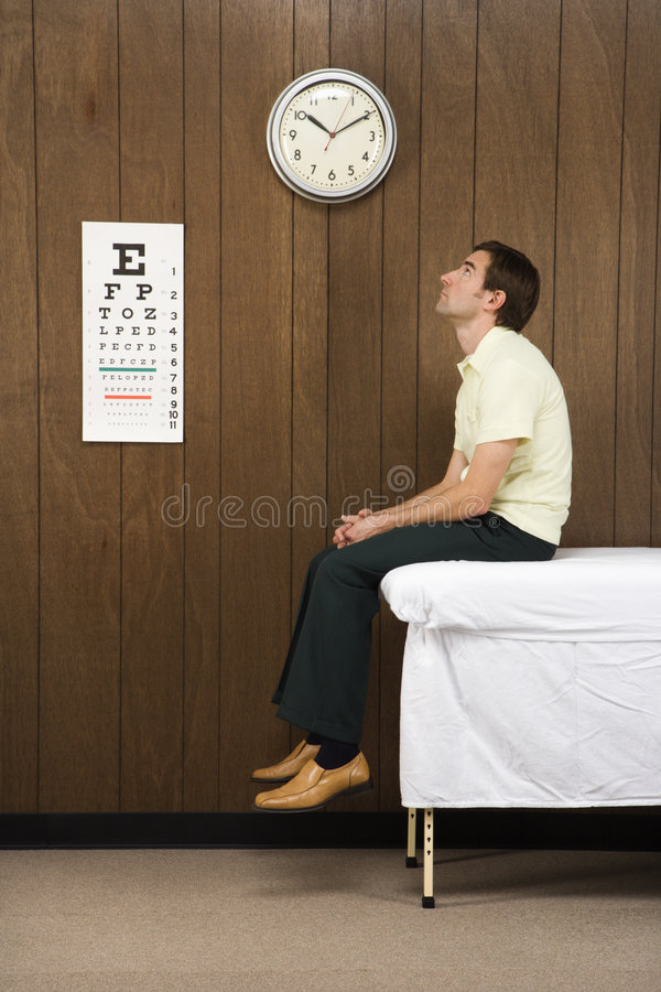 Free Man Waiting In Retro Doctor S Office. Royalty Free Stock Images - 2047099
