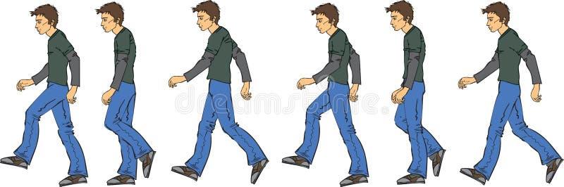 Man_walking ilustración del vector