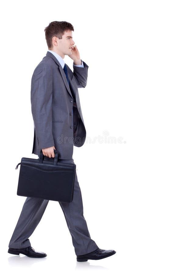 Free Man Walking And Talking On Phone Stock Image - 18593121