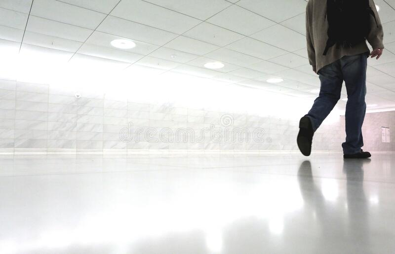 Man Walking In Corridor Free Public Domain Cc0 Image