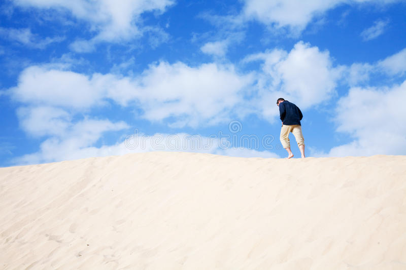 Man Walking On The Crest Royalty Free Stock Images