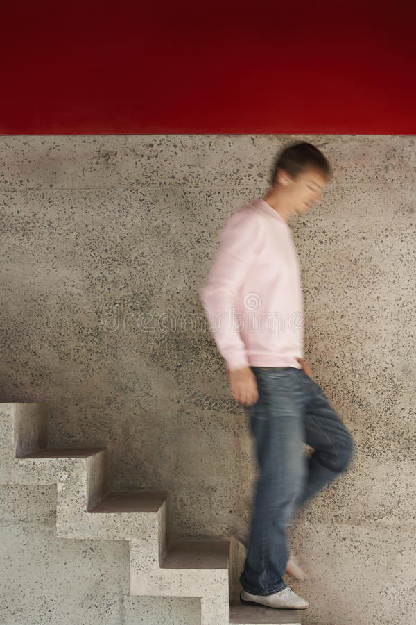 Free Man Walking Down Stairs Stock Photography - 29657632