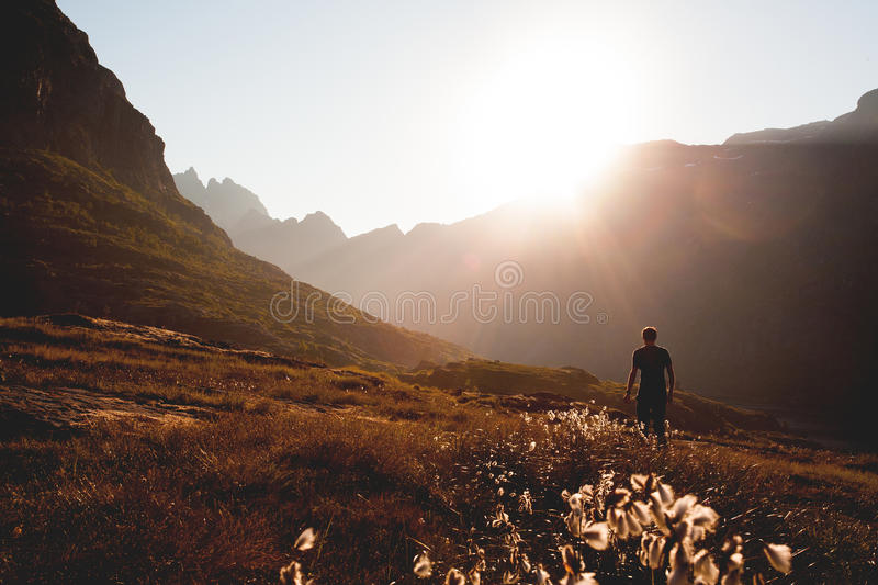 Man Walking On Mountain Free Public Domain Cc0 Image