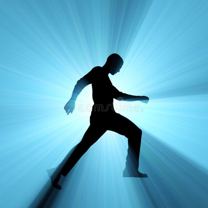 Download Man Walking Shadow Light Flare Stock Illustration - Illustration of blue, human: 13152936