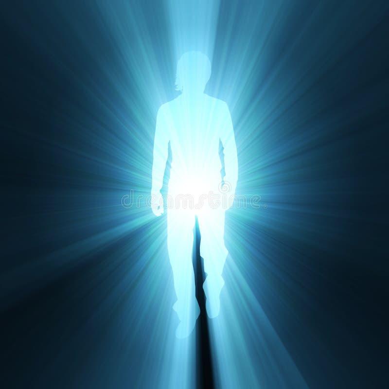 Free Man Walking Shadow Light Flare Royalty Free Stock Photo - 13172605