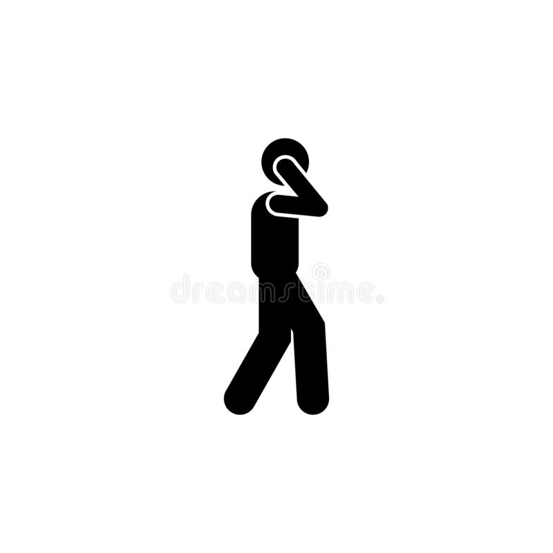 Man, walking, talking phone icon. Element of human use phone. Premium quality graphic design icon. Signs and symbols collection. Icon for websites, web design royalty free illustration