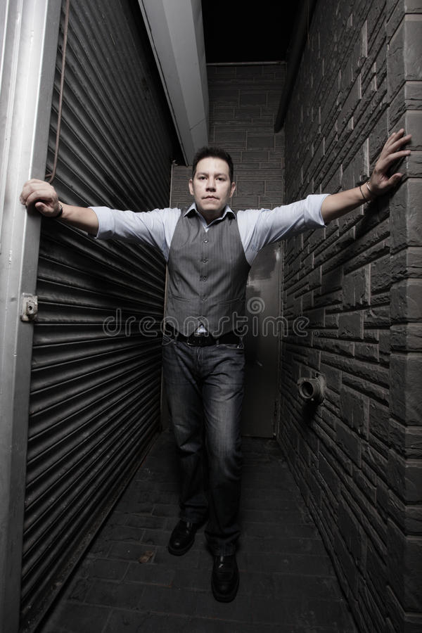 Download Man between walls stock image. Image of urban, concrete - 13236941
