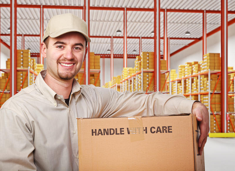 Download Man in warehouse stock image. Image of package, portrait - 27688459