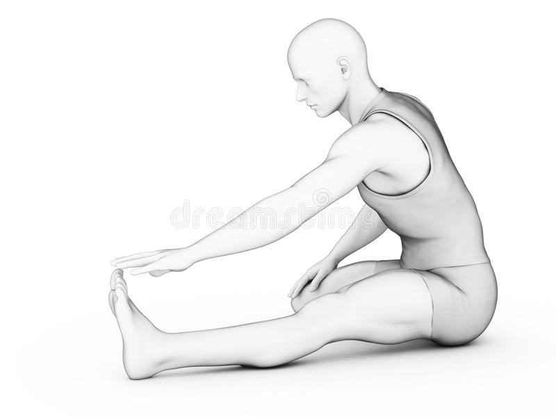 Download Man - warm up stock illustration. Image of white, character - 28990241