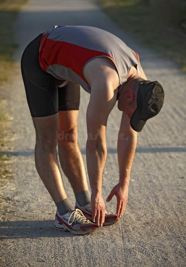 Download Man warm up before run stock image. Image of jogging - 14464701