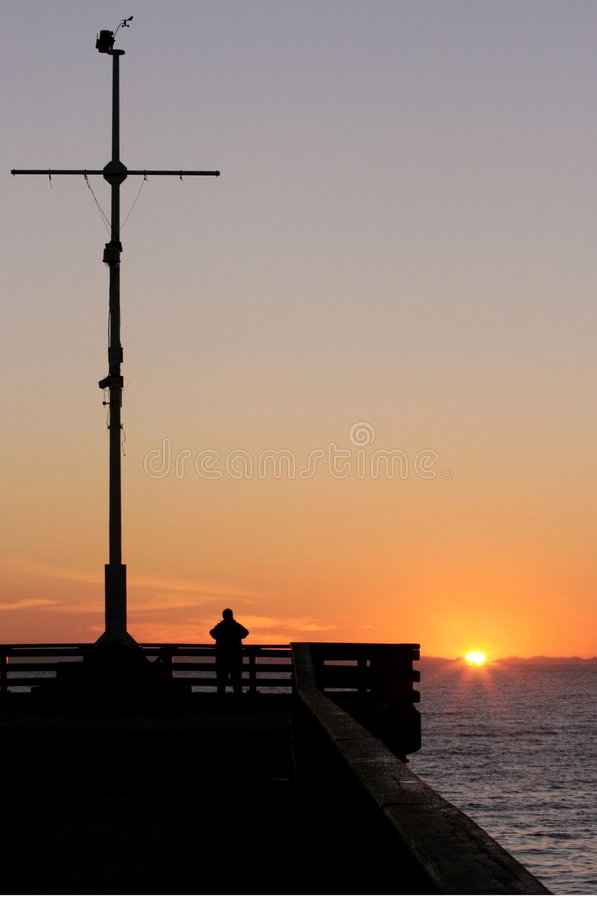 Download Man Watching The Sun Rise Royalty Free Stock Images - Image: 2752549