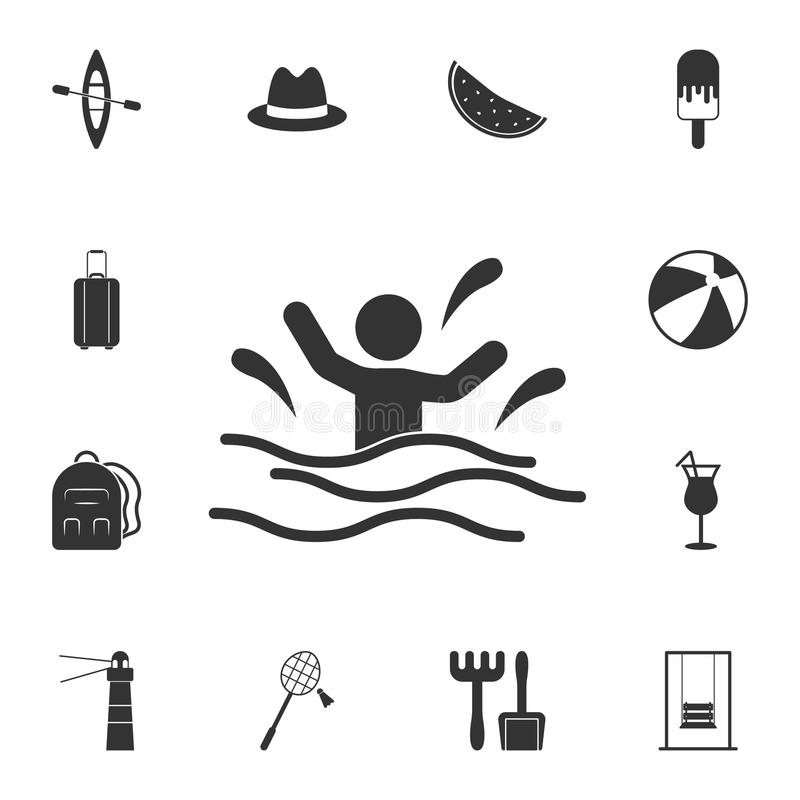 man in the water icon. Detailed set of Summer illustrations. Premium quality graphic design icon. One of the collection icons for royalty free illustration