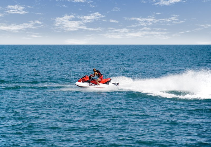 Download The Man On A Water Motorcycle Stock Photo - Image: 2600204