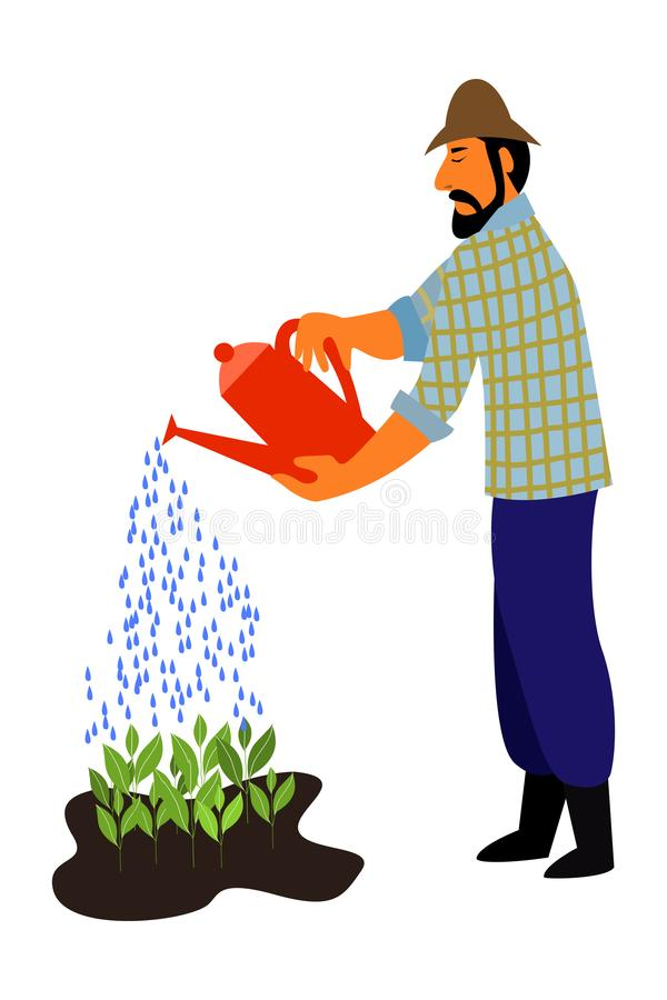 Man Watering Plants Stock Illustrations 790 Man Watering Plants Stock Illustrations Vectors Clipart Dreamstime