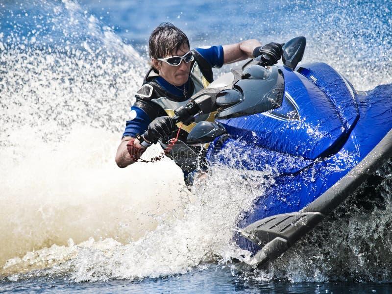 Man on Wave Runner stock photos