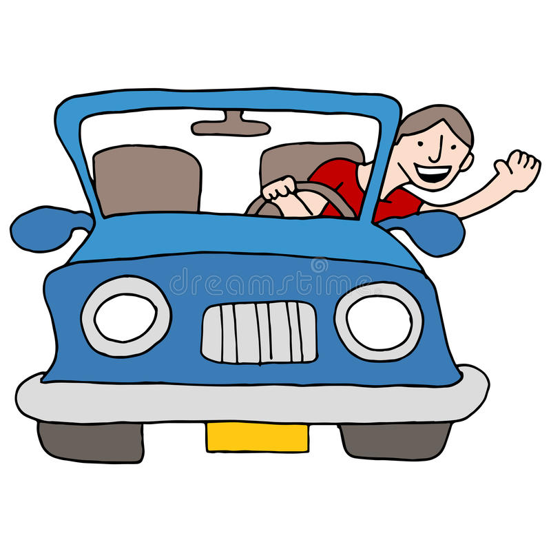 Download Man Waving From Car stock vector. Illustration of illustration - 40202566