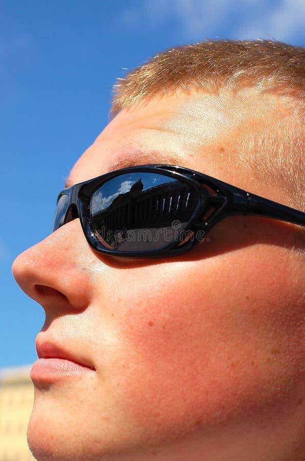 Man wear glasses