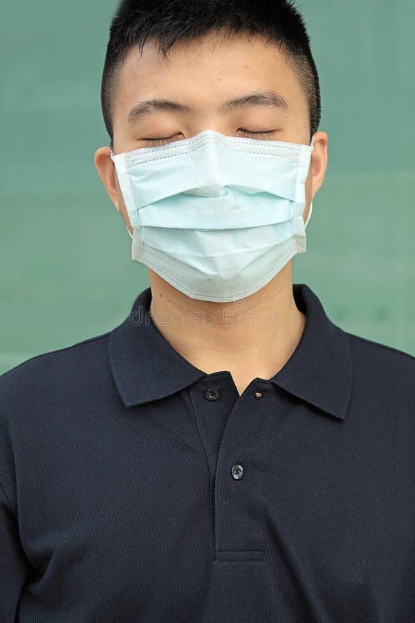 Man Wear Mask Stock Image