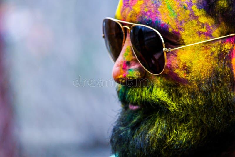 Man Wearing Black Aviator Sunglasses stock photography