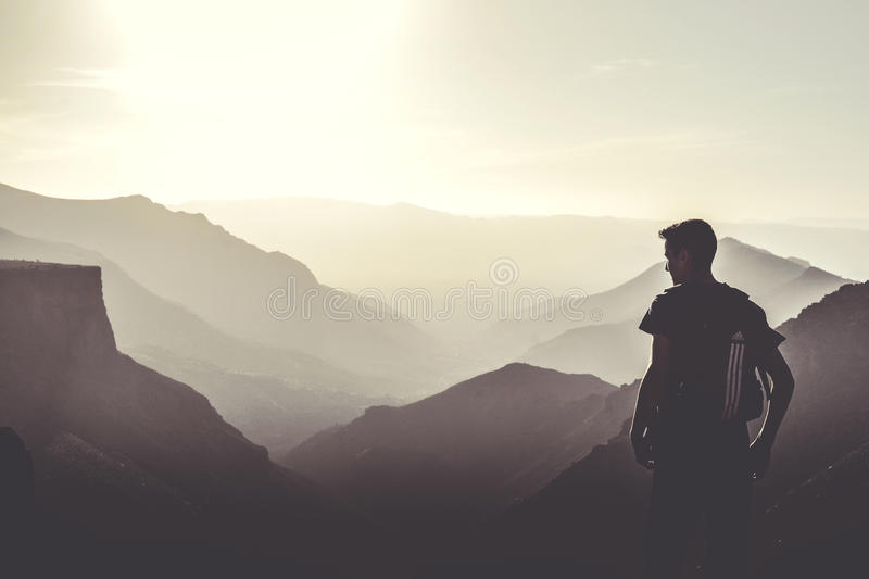 Man Wearing Black Tops At The Top Of The Mountain Free Public Domain Cc0 Image