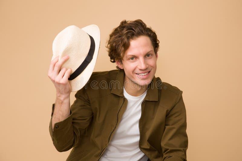 Man Wearing Brown Dress Shirt Holding White Fedora Hat Free Public Domain Cc0 Image