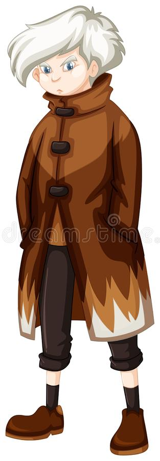 Free Man Wearing Brown Overcoat Royalty Free Stock Images - 102667499