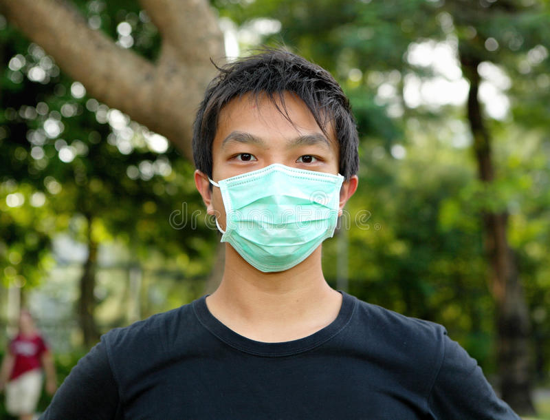 Man wearing face mask royalty free stock photos