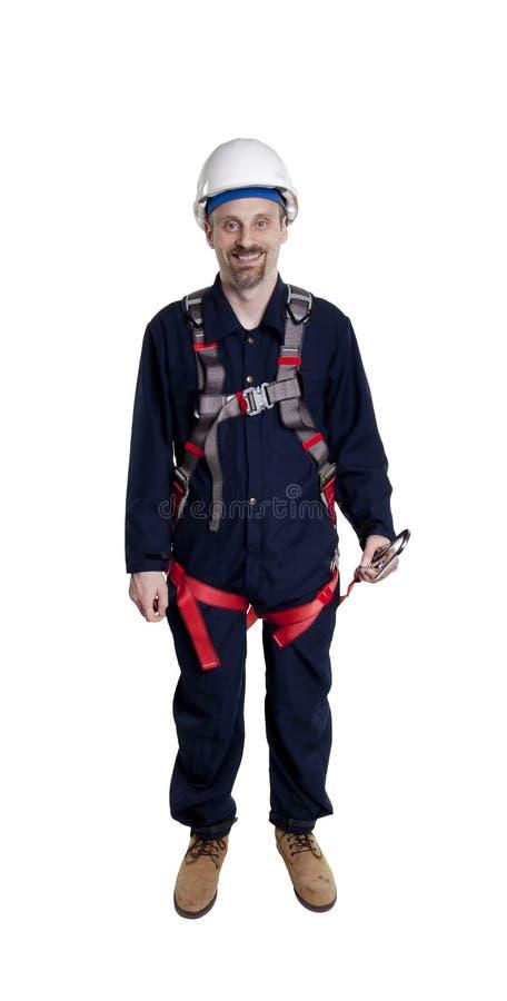 Man Wearing Fall Protection Stock Photos