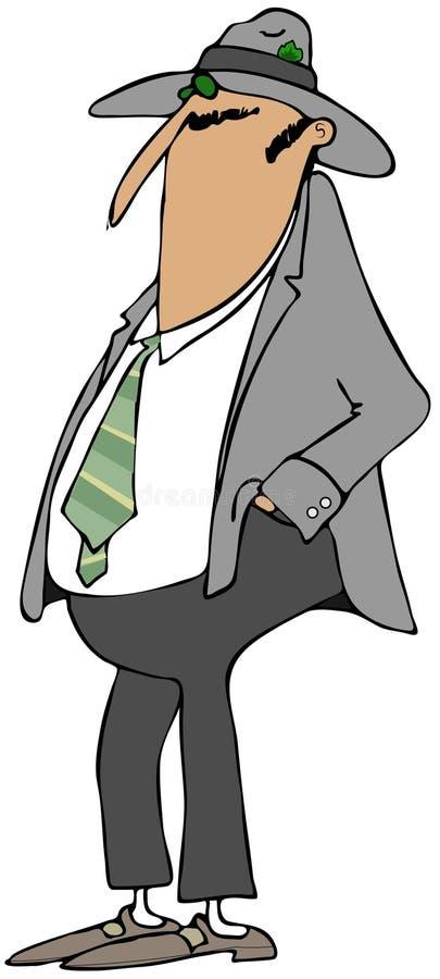 Man Wearing A Fedora Stock Image