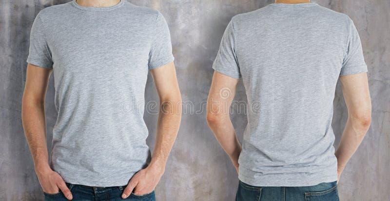 Man wearing grey shirt royalty free stock photos