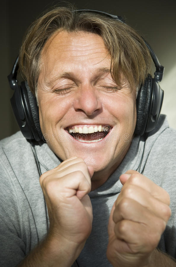 Download Man wearing headphones. stock photo. Image of single - 10441744
