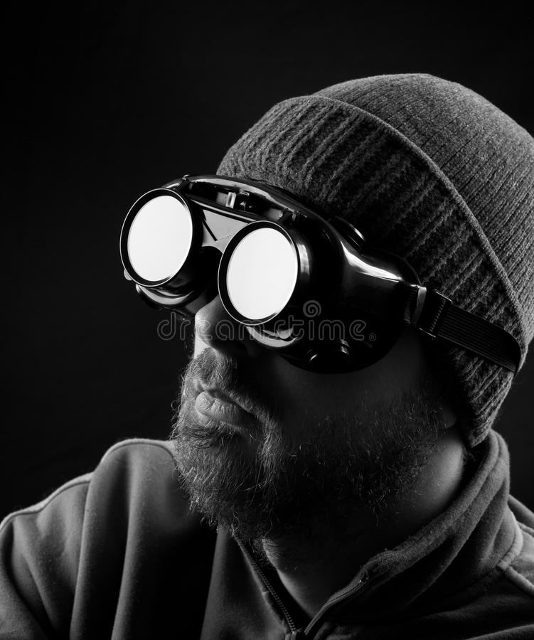 Download Man Wearing Protective Goggles Stock Image - Image: 18059975
